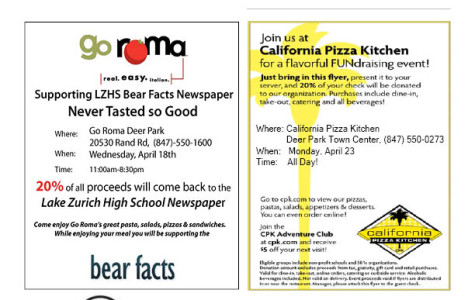 Support Bear Facts by visiting businesses with this flyer!