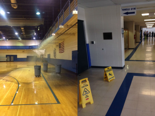 Tonelli gym flooded after pipe bursts