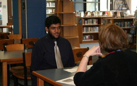 Students partake in mock interviews
