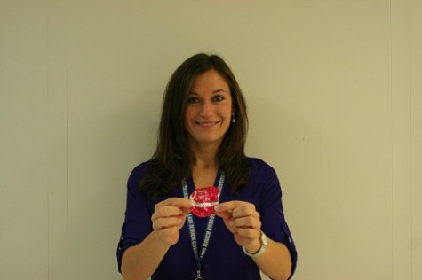 Teacher collecting pink yogurt lids to raise money for cancer research