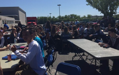 Faculty and staff hosted end of the year BBQ