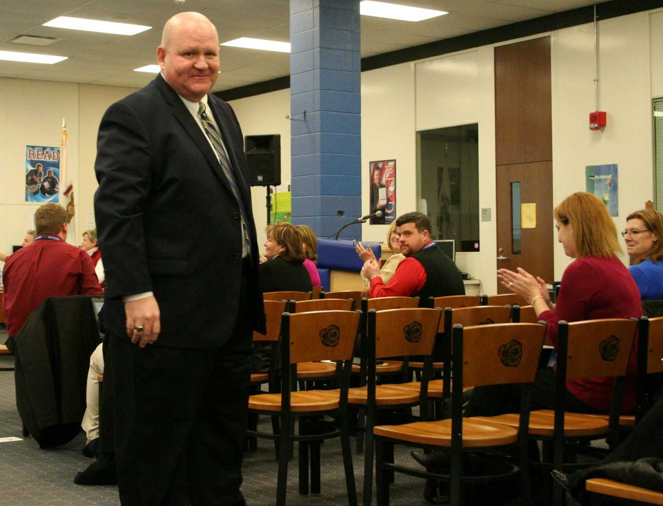 Nightlinger was introduced as the new LZHS principal at the recent School Board meeting.