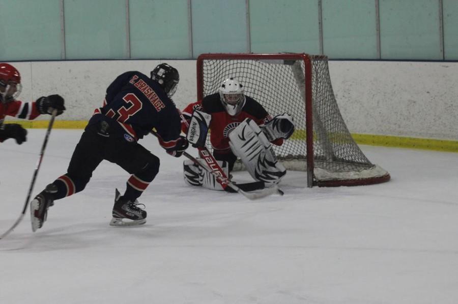 Hockey team skates to victory