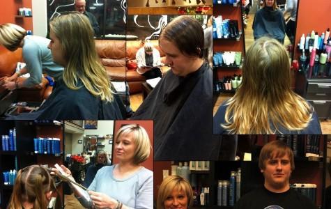 Senior boy donates long hair