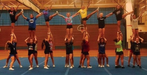 Flipping out for cheerleading: students participate in club and high school cheer