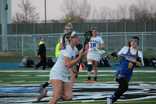 Girls' lacrosse storms ahead, beats Warren Blue Devils