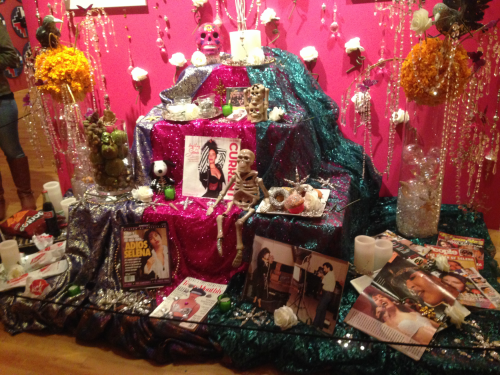 The altar for the beloved Mexican-American singer, Selena, in the National Museum of Mexican Art. Students observed and listened to a guided tour through this museum on their field trip to the Chicago neighborhood of Pilsen.