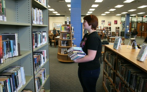 Students trade free periods to help in the library