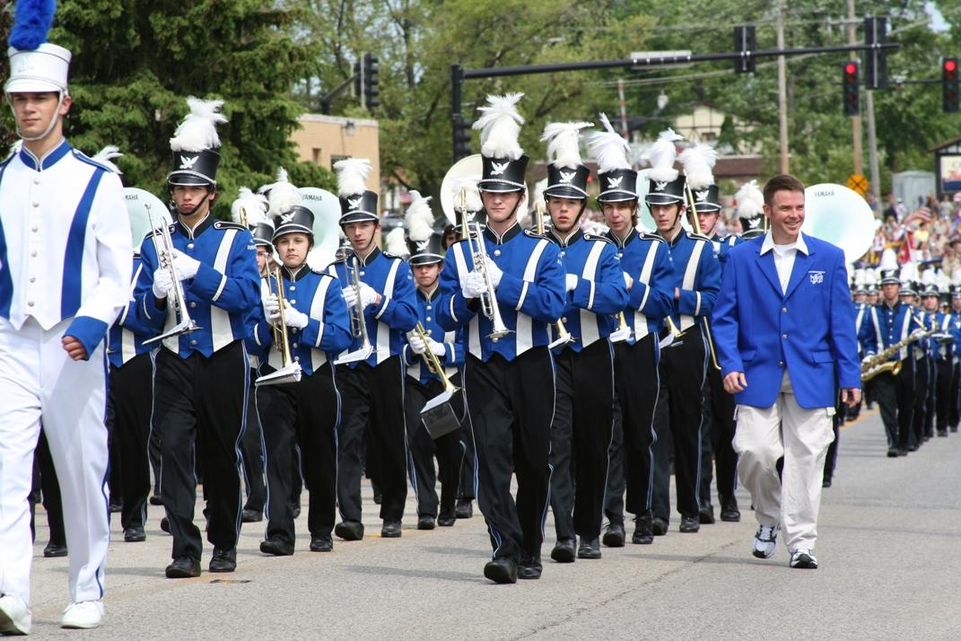 Josh Thompson, marching band director, will lead the band in the annual Memorial Day parade on May 30. Thompson has directed the band in this parade every year since 1997.