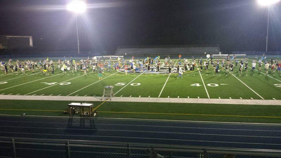 Band members practice their songs and marching on the field in order to prepare for Northwestern Band Day. Students are given the same three songs so they can perform it on Saturday with the other schools.