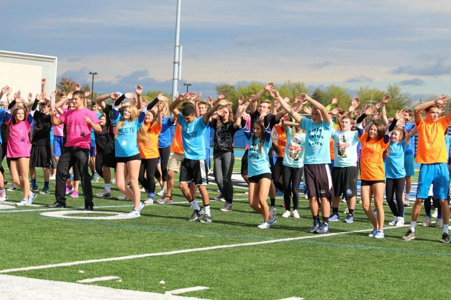 The senior athletes dance to the song Aint No Mountain High Enough and many others as they show off their newly discovered dancing talent.