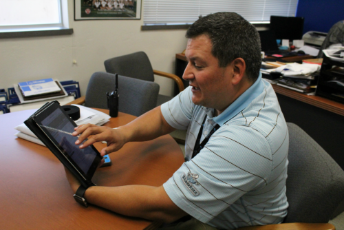Rolly Vazquez, athletic director, explains the IHSA Legislative Committee's web presence. The committee is in charge of regulating IHSA sports.