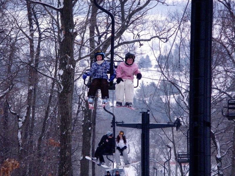 Em Davison, sophomore and her siblings spend their time on the weekends skiing.