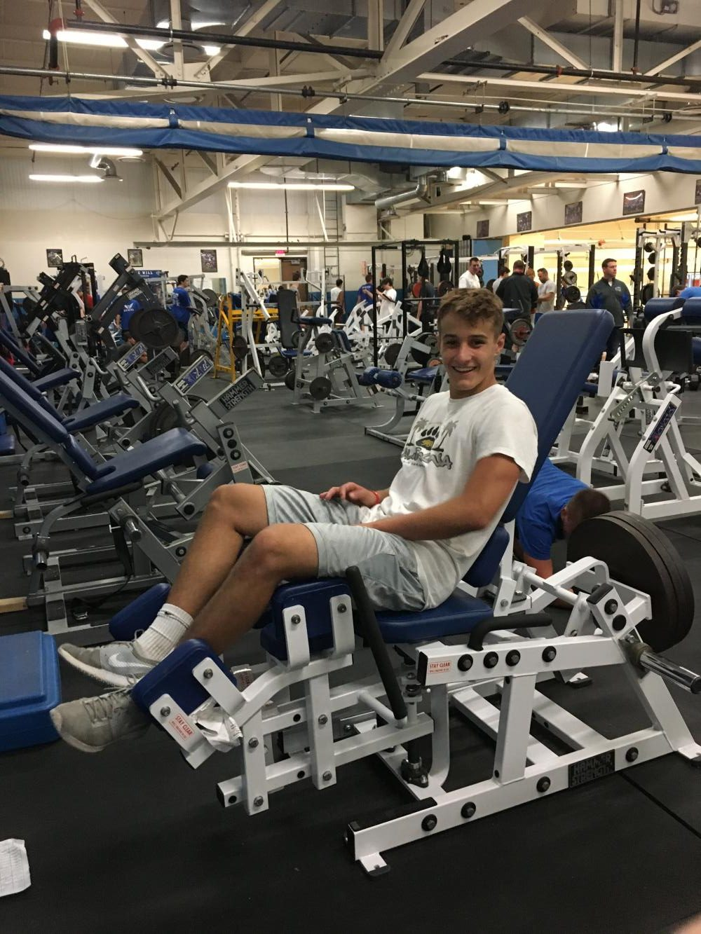 Although they have to wake up before the sun, football players claim they enjoy working out with the team and being a part of Morning Maniacs.