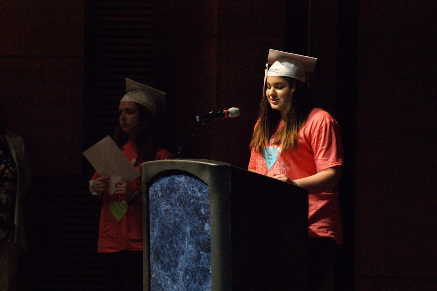 Sydney Shadrick, senior, gave a speech on the lessons she learned throughout her 8 semesters in the child development program. Shadrick will be majoring in Special Education this fall at Appalachian State University.
