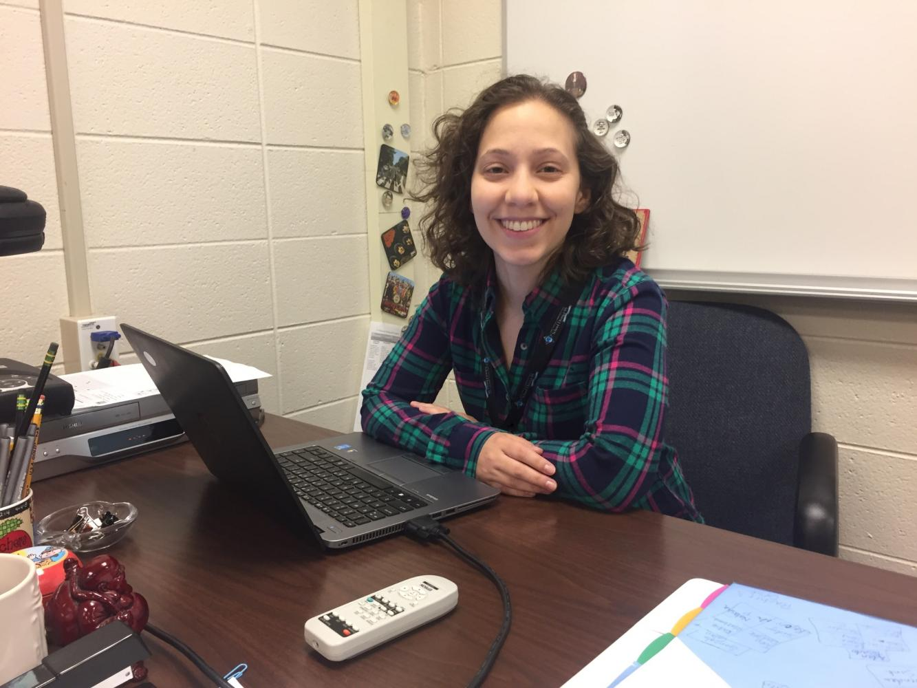 Kim Ferraro, new social studies teacher, graduated from University of Illinois in 2015. Standing 4 feet and 11 inches tall, Ferraro loves teaching, cooking, and watching Spongebob every Saturday morning.