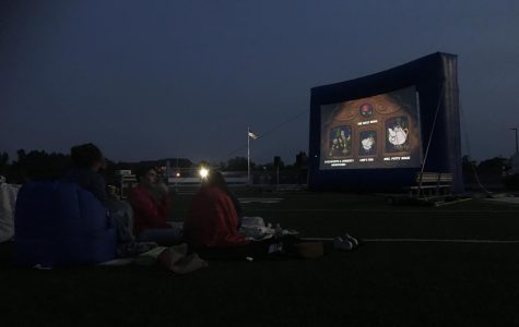 A new big screen: student council Holds Movie Night Outdoors