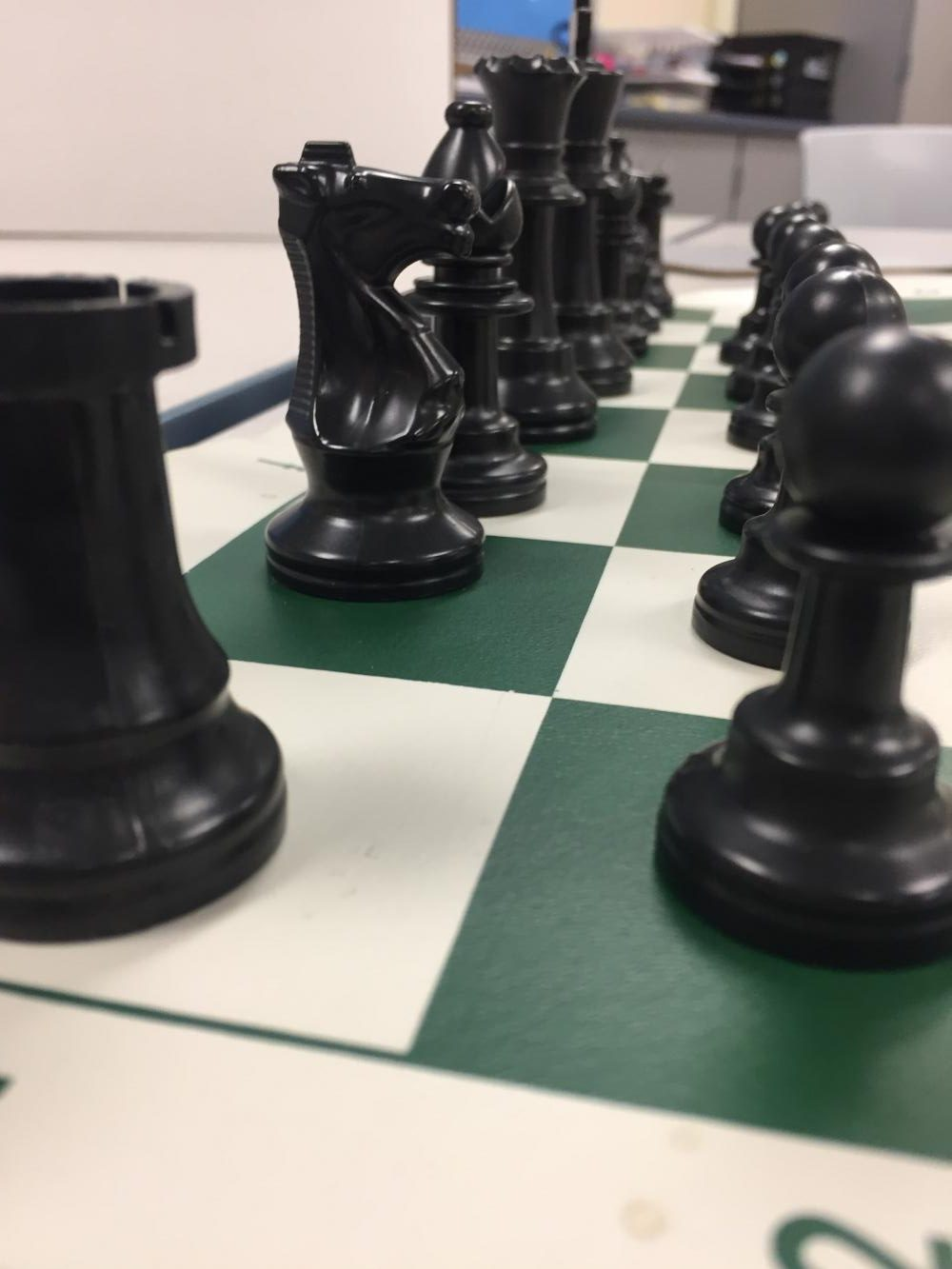 Start of a new game with  new strategies, new competition, new opportunities to win at chess club.