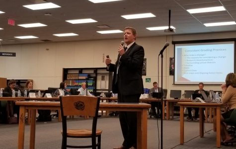 School board meeting addresses new grading system