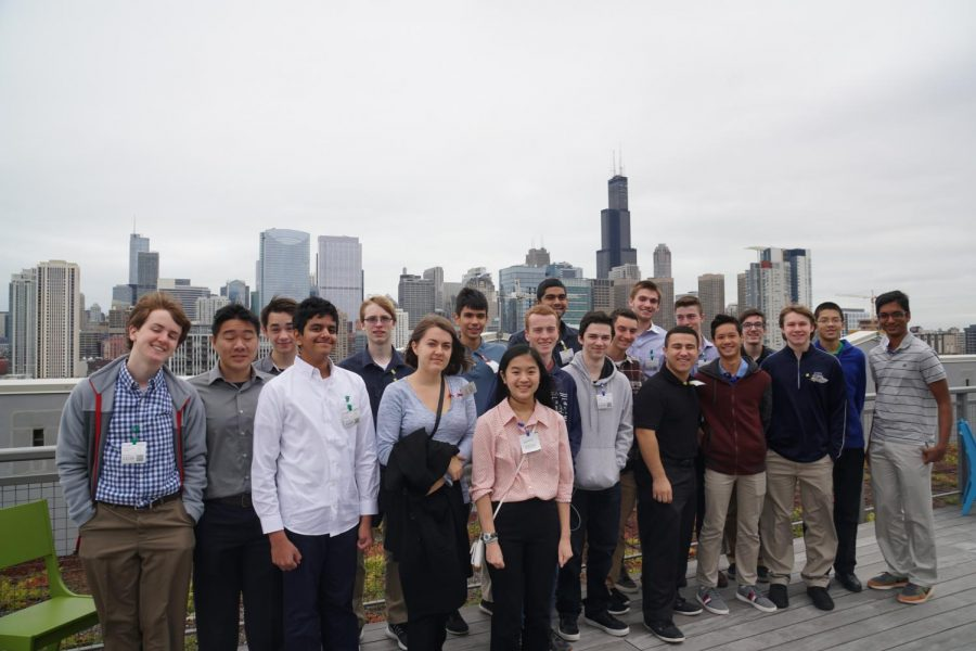 AP Computer Science class took a field trip to the Google offices in Chicago. The class was given a tour of the building, including its rooftop.