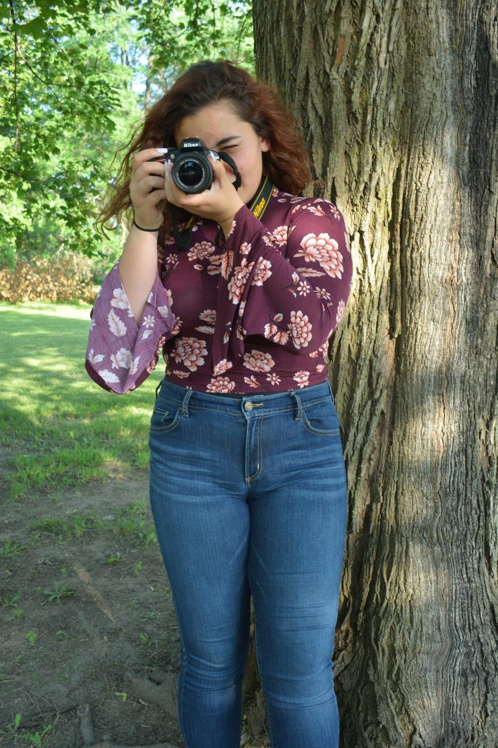 Gillian Teichman's passion for photography has been around for as long as she can recall. She is also a member of the Literary Magazine, which puts together a publication of the best artwork that students submit.