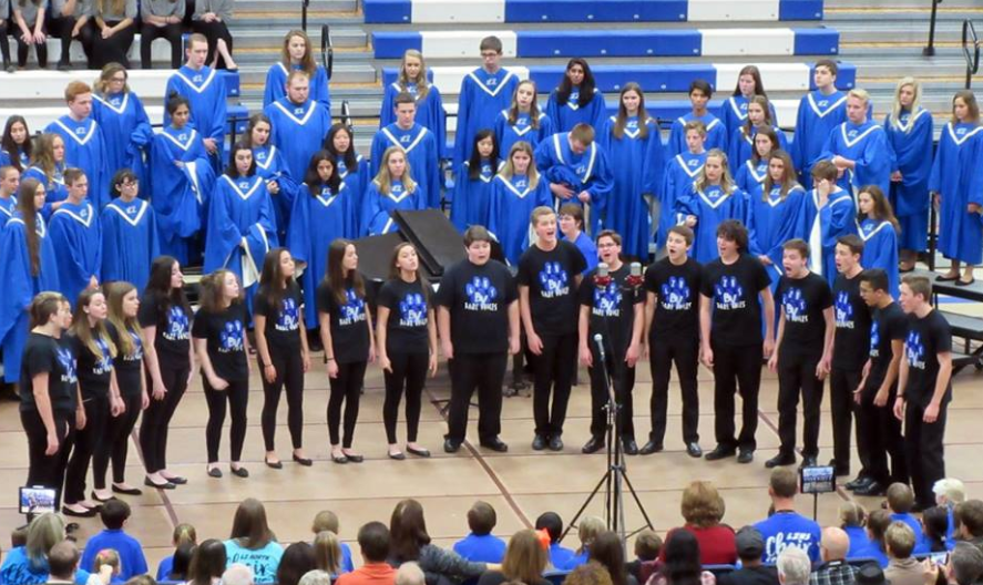 The acapella group, Bare Voices, performed at the District Choral Festival earlier this year. Along with the festival, Bare Voices performs at multiple holiday events including Miracle on Main Street on December 2.