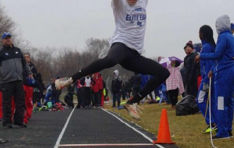 One jump, seventeen feet: sophomore track and field star
