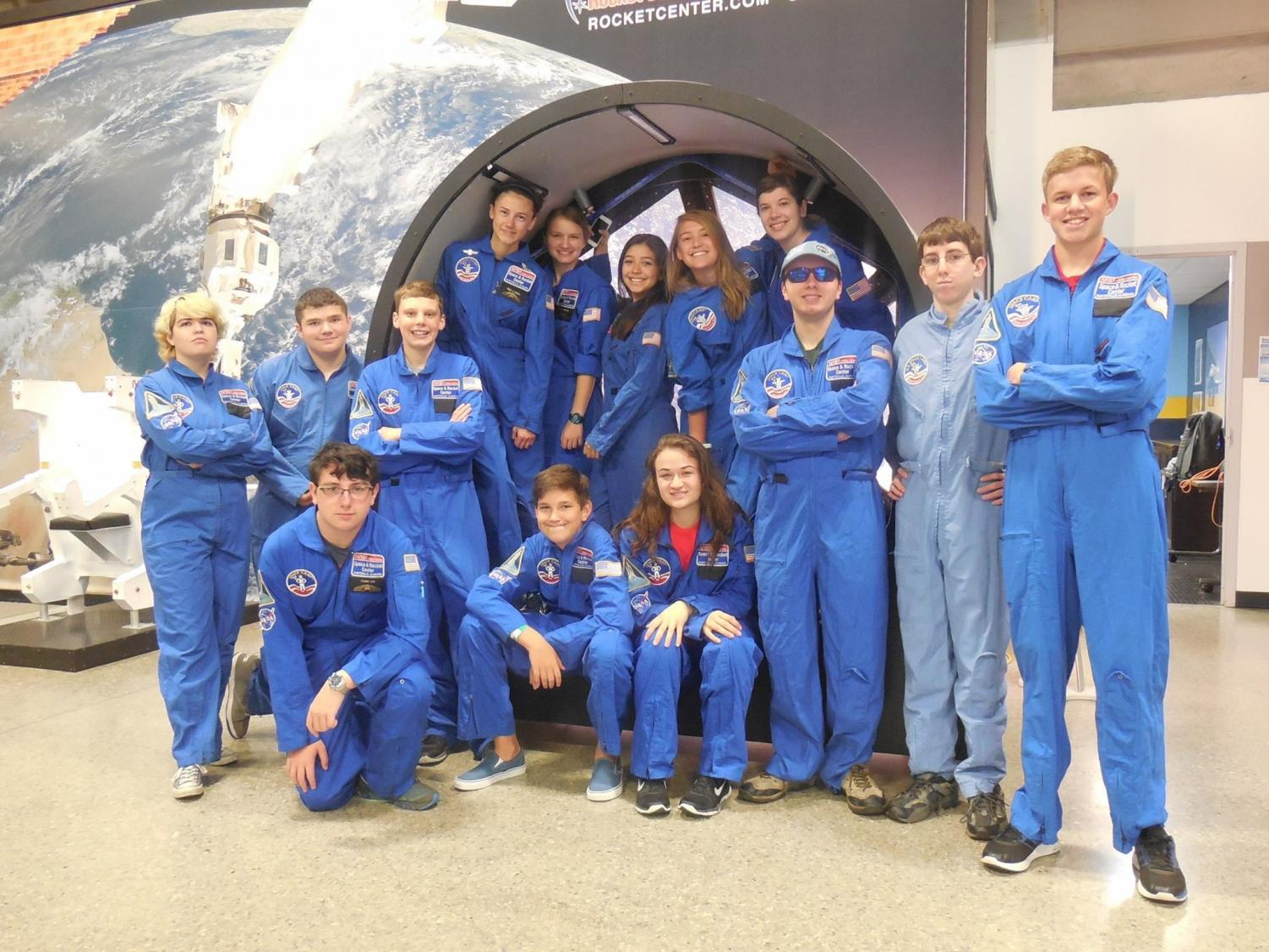 Lauren and friends pose at space camp in Huntsville, Alabama. Stern, who wants to become an astronaut, says that attending space camp was just one factor that led to her to follow her career ambition.