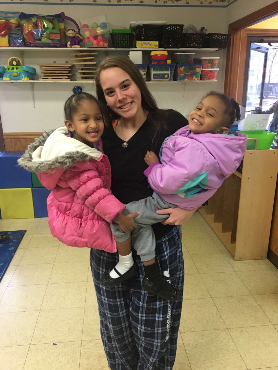 Becky Mnichowicz, senior, works at her family's daycare center. Mnichowicz plans to work with children with special needs after college.