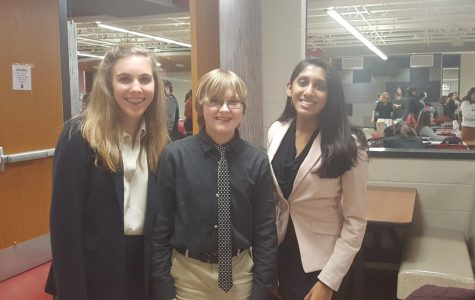 (From left to right) Katherine Czarnik, junior, Jack Lamb, junior, and Neha Praseed, senior, competed at Sectional last year for speech and acting.