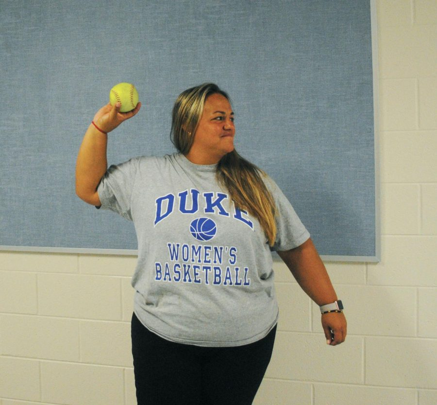 Amanda Rodriguez, PE teacher, has played softball all of her life. Now, she is coaching the game using what she has learned from her own coaches to enhance her coaching techniques.
