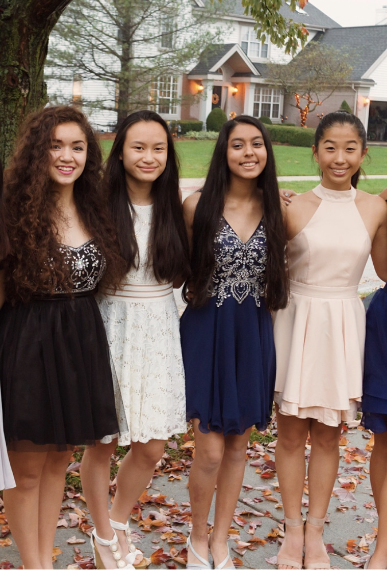 Lizzy Yen, sophomore, (far right) attended homecoming as a freshman. However, she is not attending this year due to other commitments.