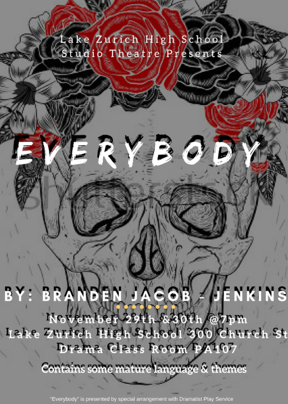 There is still one more showing of Studio Theatre's new play, Everybody, tomorrow. Students in the class have been preparing for these performances since November.
