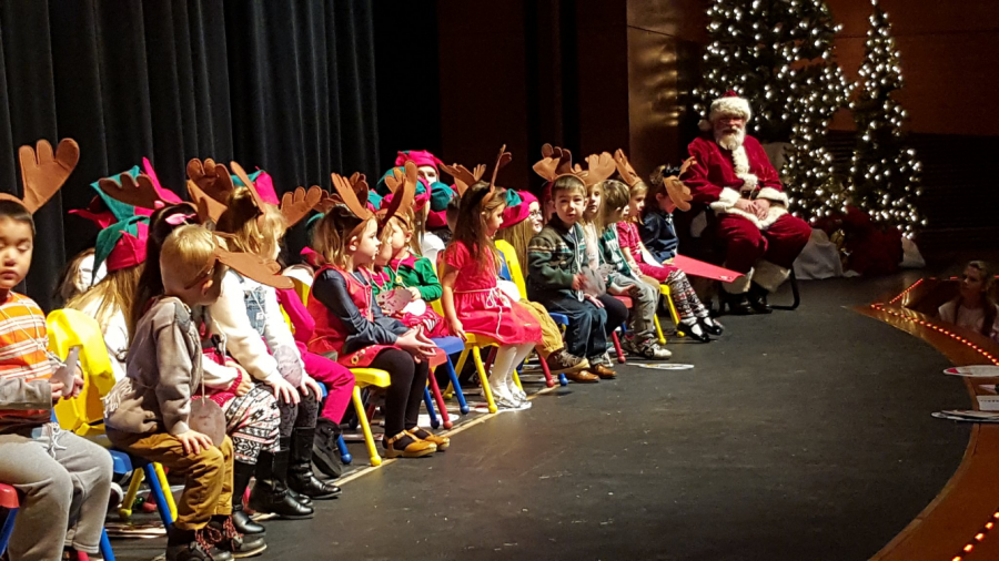 The Little Bears, preschool child development students, perform at last year's holiday show. The students will sing and dance in the PAC this year as well.