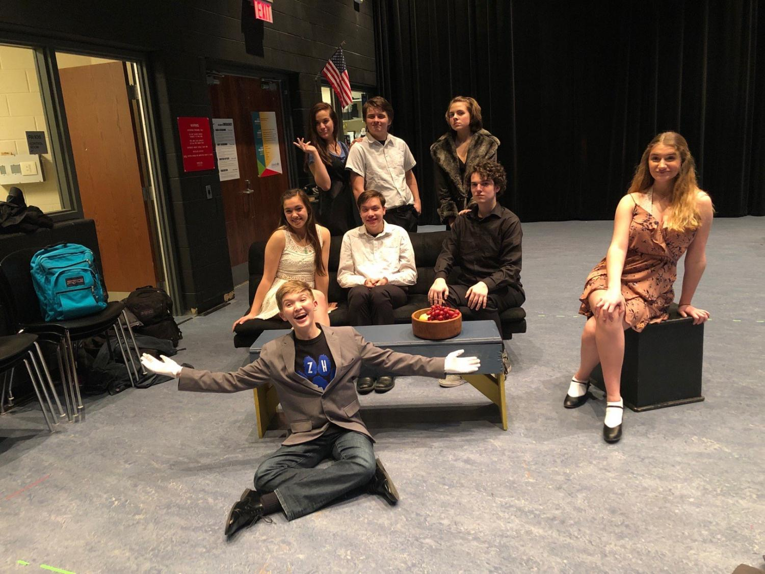 The 8-person cast of Lend Me a Tenor and the entire crew behind the scenes are excited to share the show with the audience. According to Brittany Rogus, sophomore, the play is filled with lots of comedy that everyone can look forward to.