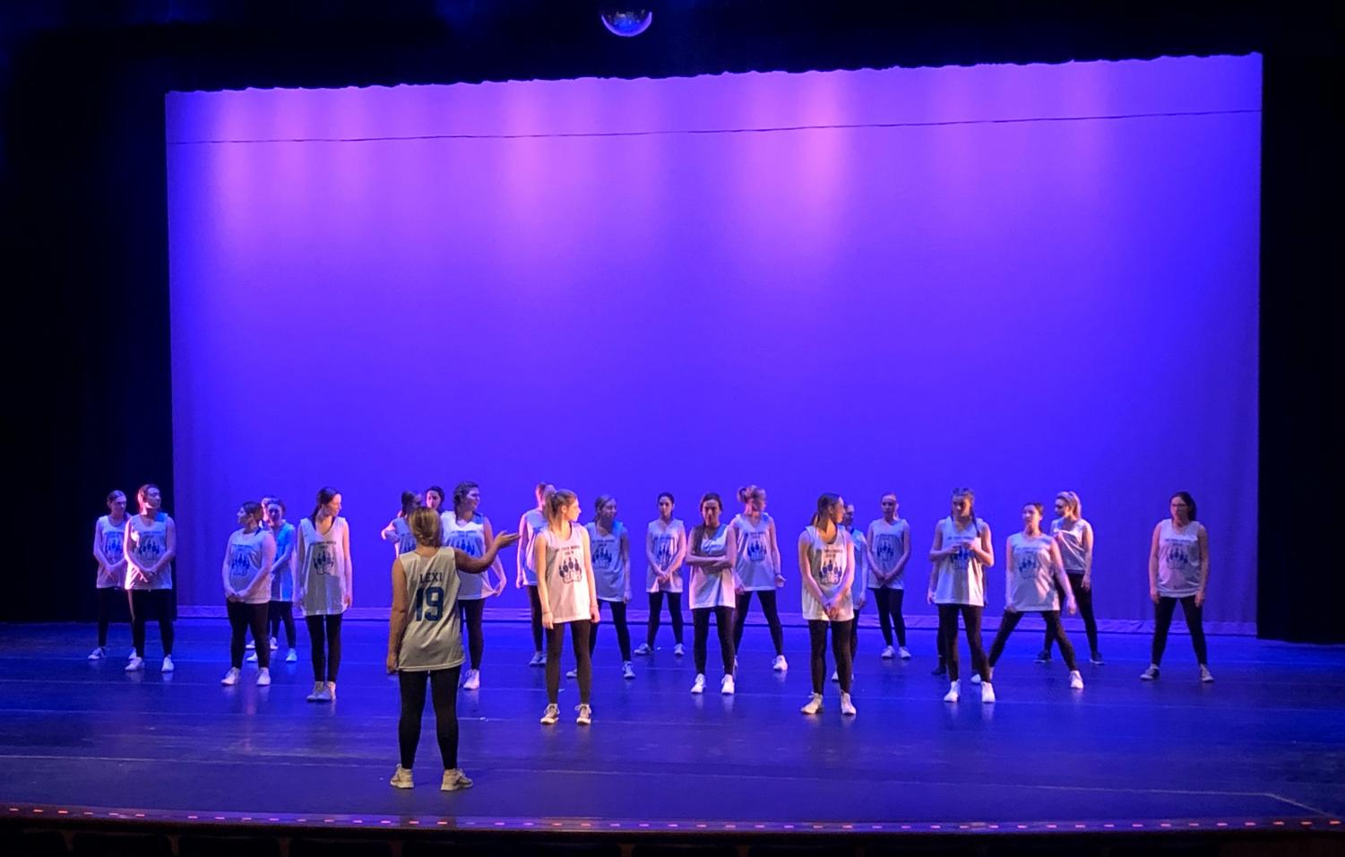 The orchesis practices the routine that they will be showcasing at their show. Although a few of their members have never danced hip-hop before, practices such at these have helped to ensure that everyone knows what they are doing.