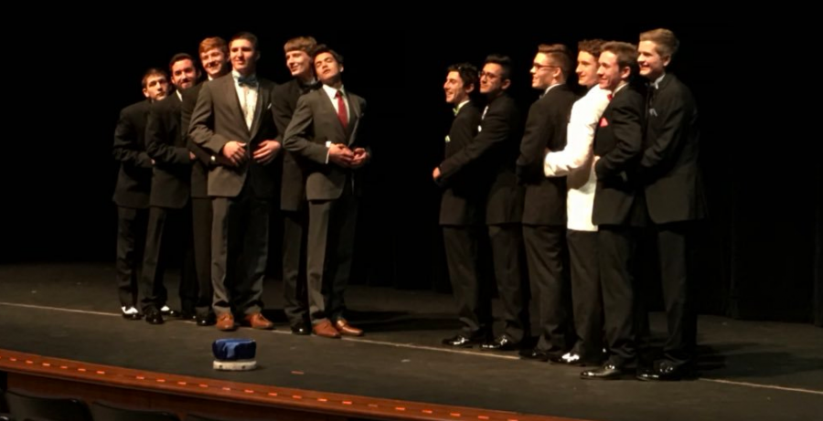 The senior boys of 2018 strike a pose for last year's Mr. LZ opening. The same event will take place this Wednesday, featuring a new cast of competitors for the Mr. LZ crown.