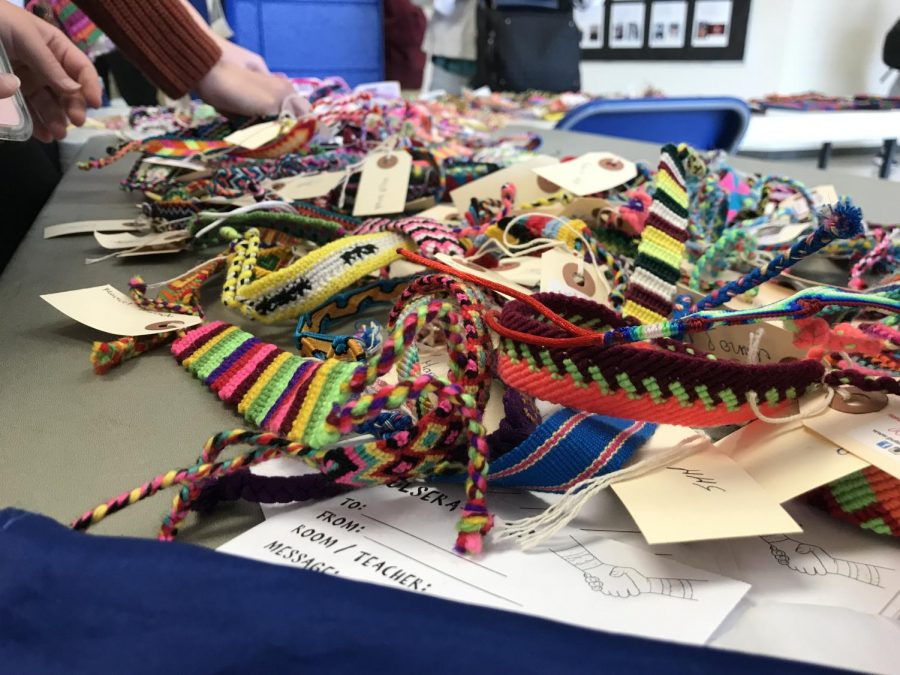 Last week, there was a wide variety of bracelets on sale at lunch. Each bracelet is unique, as each and every one was handmade with care.