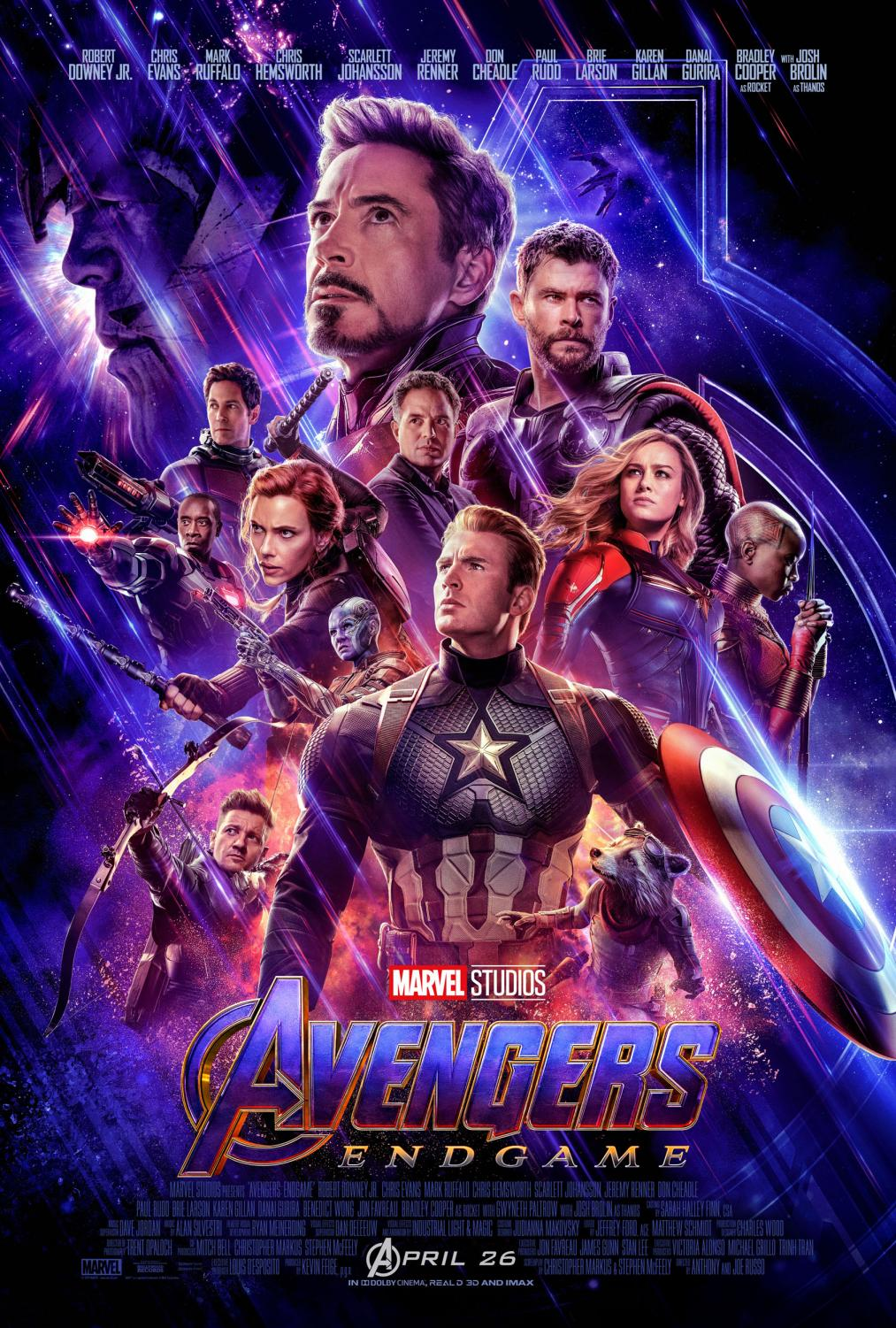Avengers: Endgame is including everyone from the MCU here. In it's opening weekend, it has made the most money out of any other movie.