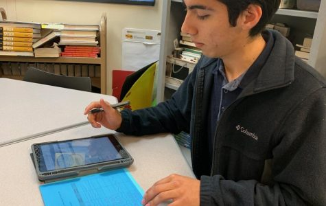 """David PaBello is enrolled in ELL classes to help with his mastery of English.  The class provides a lot more than just learning however. """"You meet a lot of different people from other countries,"""" Pabello said. """"It's sort of like a small family"""""""