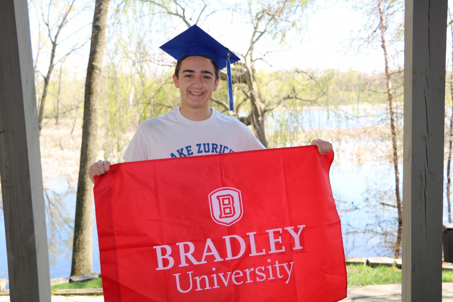 Landon Finn is excited to go to Bradley University because