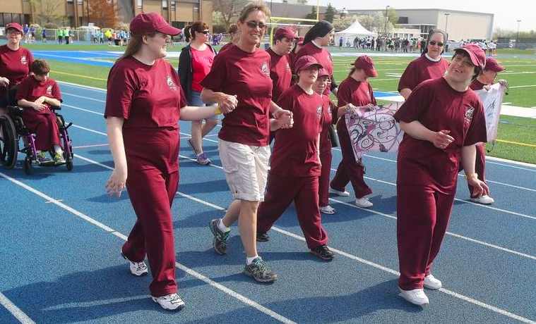 Athletes participate in a 2016 special olympics relay race. SNAP, which used to host the event at the school, is not going to be running the event this year.