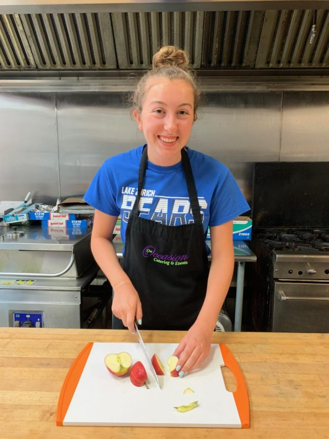 "Nathalie Nadda, senior interns for On Occasion catering where she assist with cooking and catering, as well as phone calls and emails. "" I think what I've enjoyed so far interning is like it's a very hands on experience,"" Nadda said."