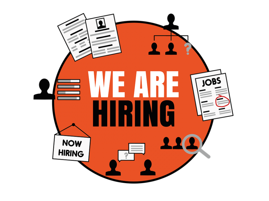 Students+search+for+job+openings+and+hiring+signs+on+websites%2C+in+store+windows%2C+and+around+the+town.+