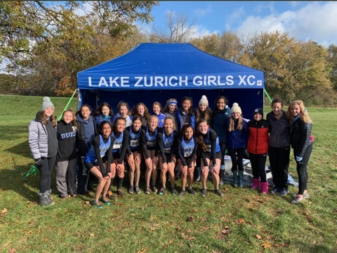 The girls cross country team competed at Sectionals in Hoffman Estates and placed 8th. brooke Johnston advanced out of sectionals and will compete at State this weekend