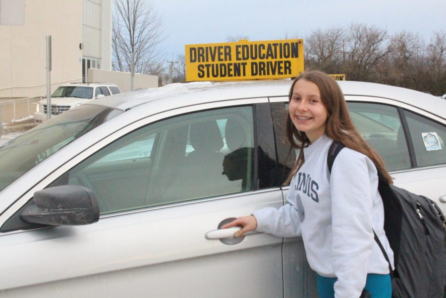 Sasha+Razin%2C+sophomore+takes+drivers+ed+at+the+school+and+has+been+practicing+for+about+4+months+to+get+her+license.+