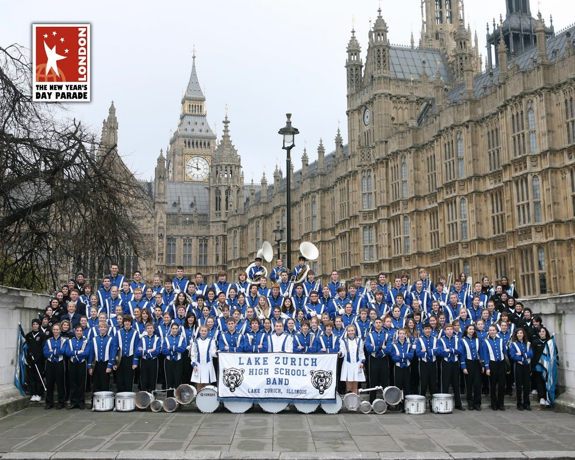The LZHS band last time they went to London, in 2005. This year, Josh Thompson, band director, says that he is excited to take a new group of band kids to a different continent and see how they will react to the cultural differences.