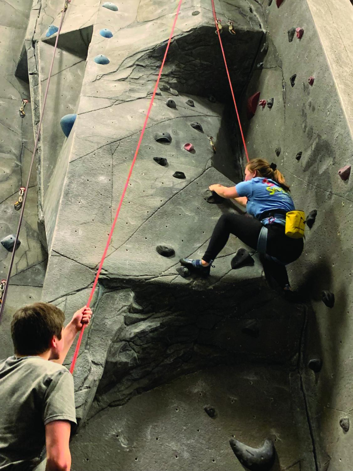 Technical theater students continue on the tradition of rock climbing. The group has a passion for rock climbing and has many fond memories together.