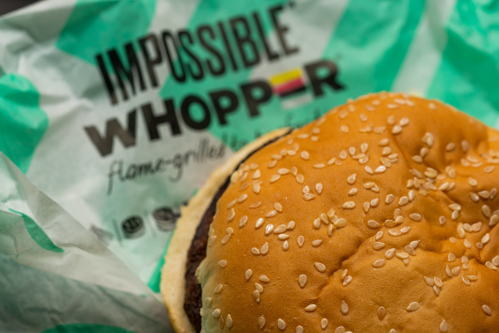 The Impossible Whopper from Burger King is completely vegan when ordering it without mayo. At only $5.59, this is a popular substitute for beef burgers.