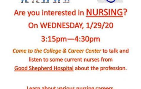 Nursing career night to provide educational opportunities
